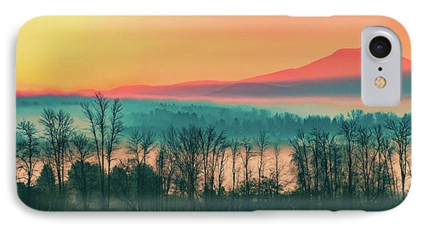 Misty Mountain Sunrise Part 2 IPhone Case by Alan Brown