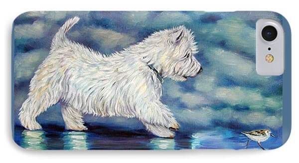 Misty - West Highland Terrier IPhone Case by Lyn Cook
