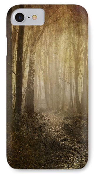 Misty Woodland Path IPhone Case by Meirion Matthias