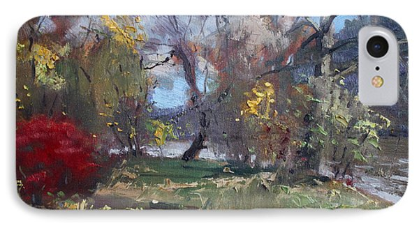 Mixed Weather In A Fall Afternoon IPhone Case by Ylli Haruni