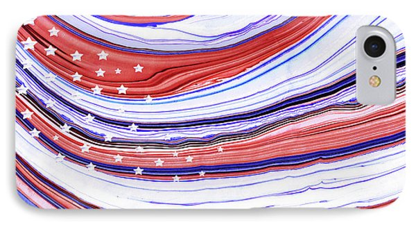 Modern American Flag - Red White And Blue - Sharon Cummings IPhone Case by Sharon Cummings