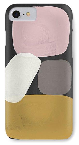 Modern Stacked Stones- Art By Linda Woods IPhone Case by Linda Woods