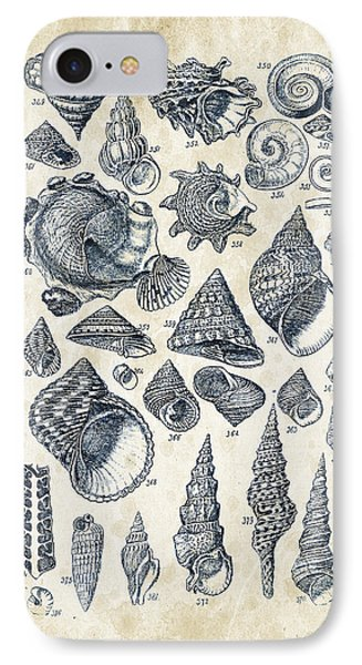 Mollusks - 1842 - 16 IPhone Case by Aged Pixel