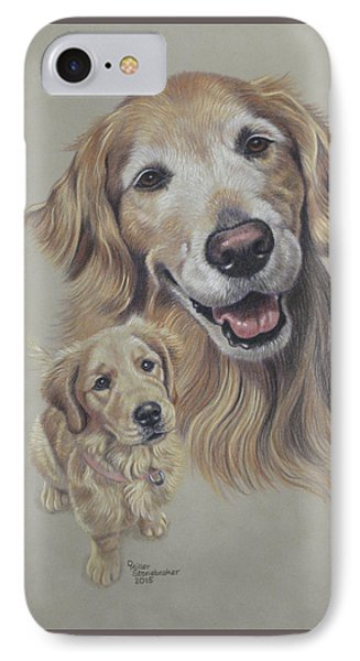 Molly Before And After IPhone Case by Debbie Stonebraker