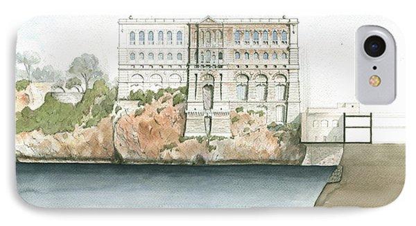 Monaco Oceanographic Museum IPhone Case by Juan Bosco