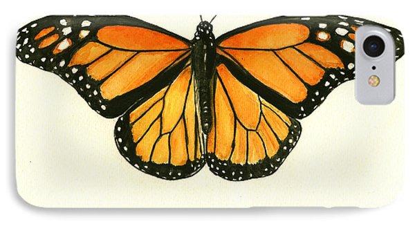 Monarch Butterfly IPhone 7 Case by Juan Bosco