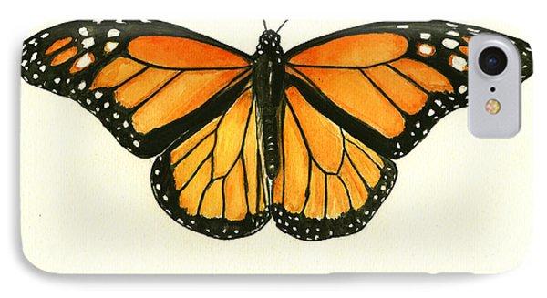 Monarch Butterfly IPhone Case by Juan Bosco