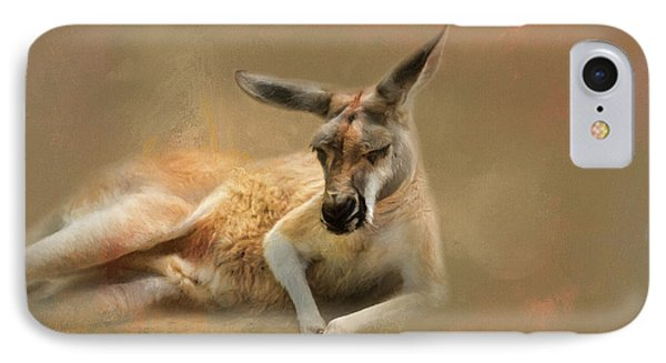 Monday Morning Drowsies Kangaroo Art IPhone 7 Case by Jai Johnson