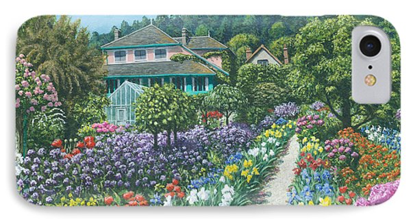 Monet's Garden Giverny IPhone Case by Richard Harpum