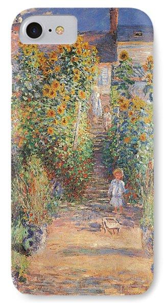 Monets Garden In Vetheuil IPhone Case by Claude Monet