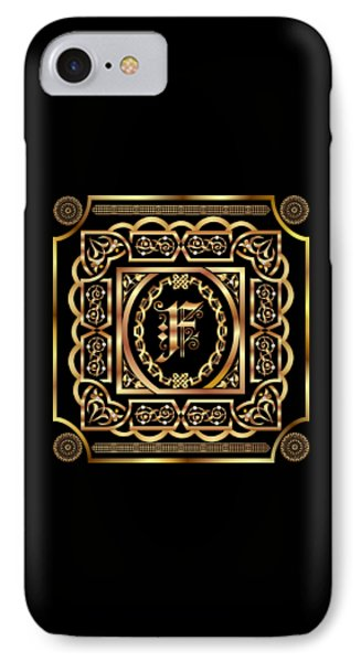 Monogram F Style 5 Trans Back Pick Color Fits Full IPhone Case by Bill Campitelle
