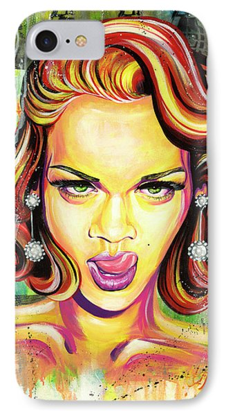 Monroe Gone Bad IPhone 7 Case by Aramis Hamer