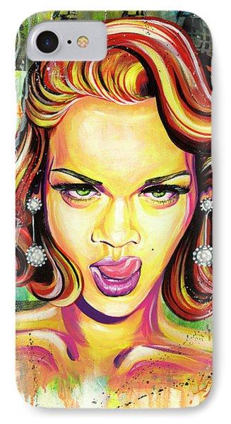 Monroe Gone Bad IPhone Case by Aramis Hamer