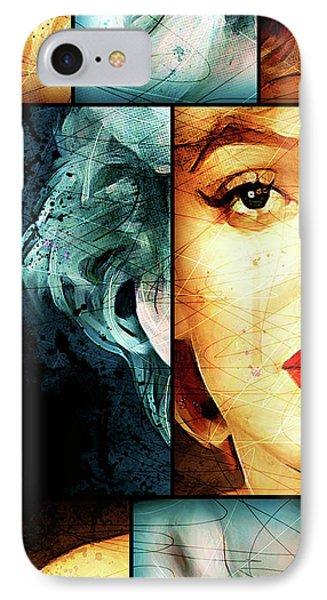 Monroe Panel A IPhone Case by Gary Bodnar