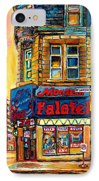 Monsieur Falafel IPhone Case by Carole Spandau