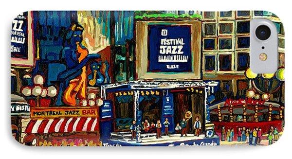Montreal International Jazz Festival IPhone Case by Carole Spandau