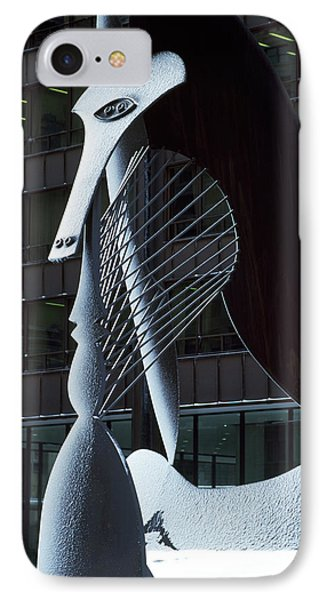 Monumental Sculpture In Front IPhone Case by Panoramic Images