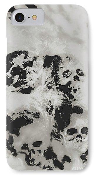 Moody Dramatic Cobwebby Skull Artwork IPhone Case by Jorgo Photography - Wall Art Gallery