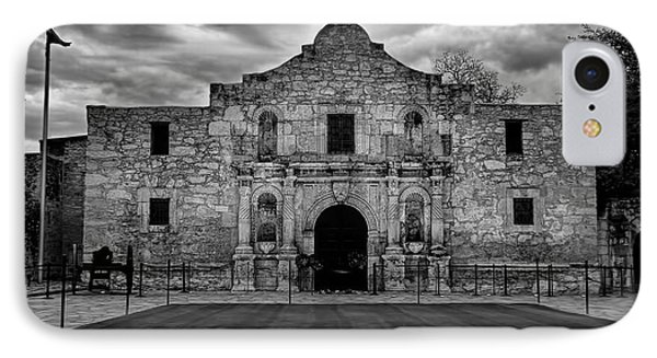 Moody Morning At The Alamo Bw IPhone Case by Jemmy Archer