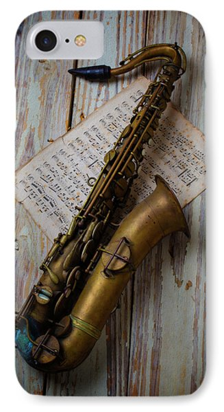 Moody Sax IPhone Case by Garry Gay