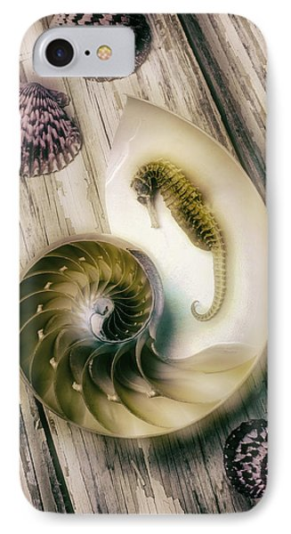Moody Seahorse IPhone 7 Case by Garry Gay