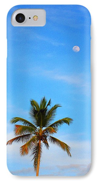 Moon. Palma. Sky. IPhone Case by Andy Za