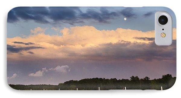 Moon Rise Over Country Fields Sunset Landscape Phone Case by Christina Rollo