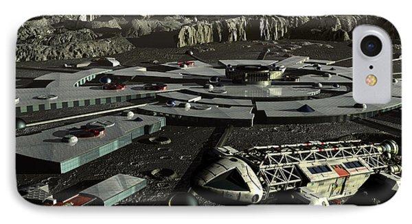Moonbase Alpha IPhone Case by Joseph Soiza