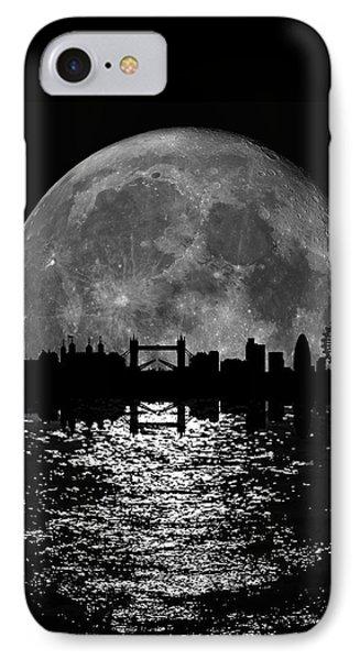 Moonlight London Skyline IPhone Case by Mark Rogan