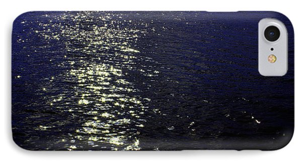 Moonlight Sparkles On The Sea IPhone Case by Linda Woods