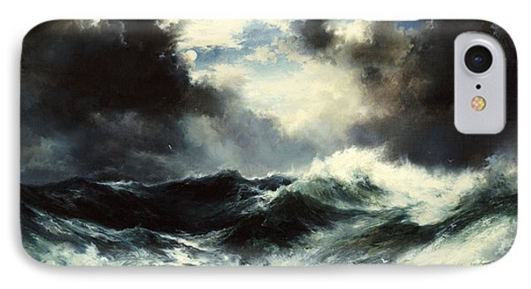 Moonlit Shipwreck At Sea IPhone Case by Thomas Moran
