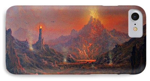 Mordor Land Of Shadow IPhone Case by Joe Gilronan