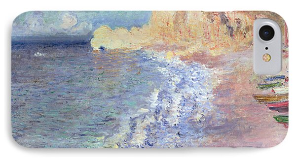 Morning At Etretat IPhone Case by Claude Monet