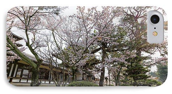Morning At Horyu-ji Temple IPhone Case by Rhonda Krause