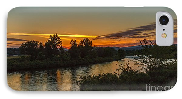 Morning Color Over The Payette River IPhone Case by Robert Bales