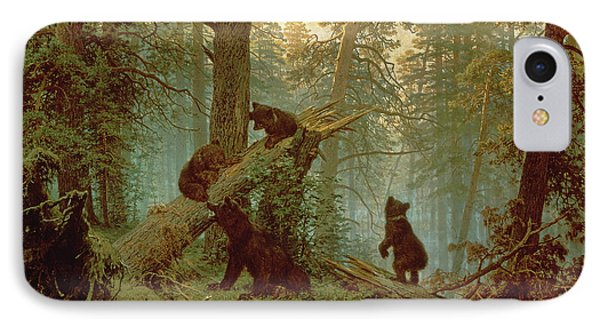 Morning In A Pine Forest IPhone Case by Ivan Ivanovich Shishkin