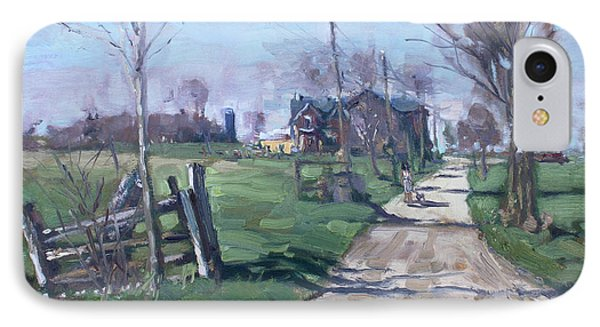 Morning In The Farm Georgetown IPhone Case by Ylli Haruni
