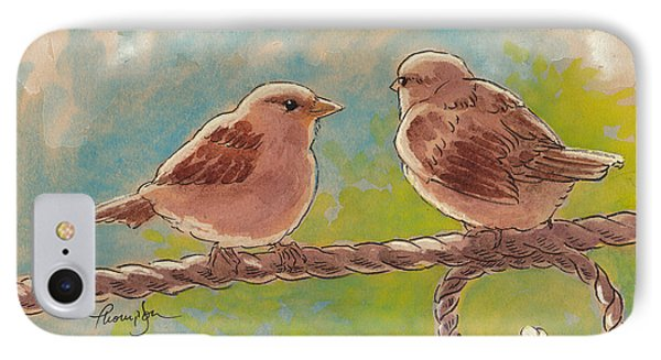 Morning Meeting IPhone Case by Tracie Thompson
