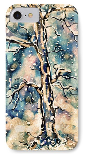 Morning Snow IPhone Case by Natalie Holland
