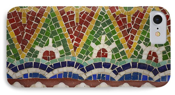 Mosaic Fountain Pattern Detail 4 Phone Case by Teresa Mucha