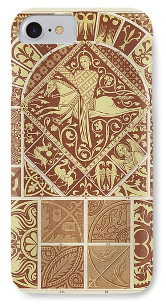 Mosaic Patterns From The Middle Ages IPhone Case by German School