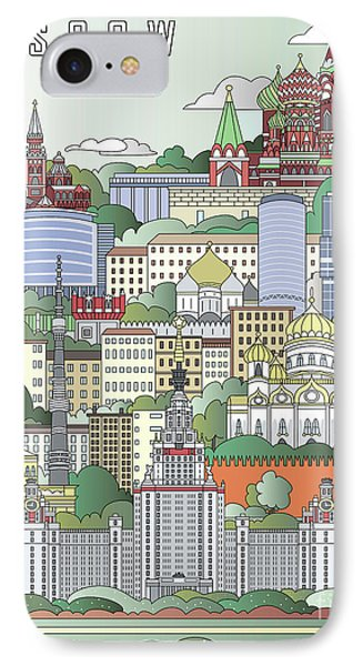 Moscow City Poster IPhone 7 Case by Pablo Romero