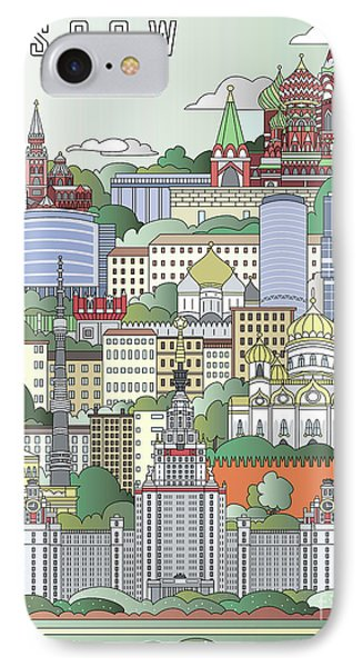 Moscow City Poster IPhone Case by Pablo Romero