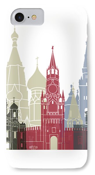 Moscow Skyline Poster IPhone Case by Pablo Romero