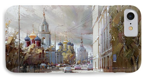 Moscow. Varvarka Street. IPhone Case by Ramil Gappasov