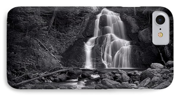 Moss Glen Falls - Monochrome IPhone Case by Stephen Stookey