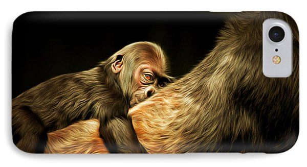 Mother And Child 20150210brun IPhone Case by Home Decor