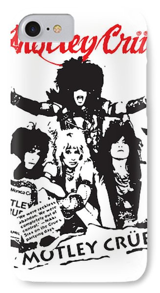 Motley Crue No.01 IPhone 7 Case by Caio Caldas