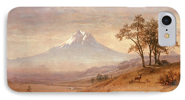Mount Hood IPhone Case by Albert Bierstadt