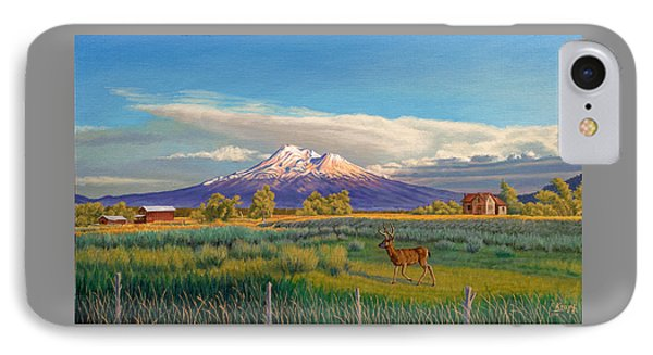 Mount Shasta IPhone Case by Paul Krapf
